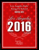 Best Kung Fu School for Kids in Los Angeles. Award (2016)